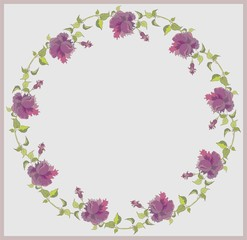 Beautiful decorative framework with flowers.