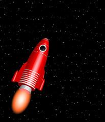 Garden Poster Cosmos red rocket