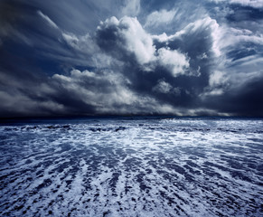 background ocean storm