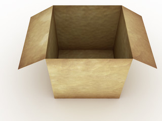 Open an empty paper box on a white background №2