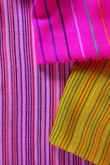 Mexican serape vibrant colorful macro fabric texture