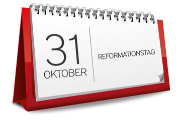 Kalender rot 31 Oktober Reformationstag