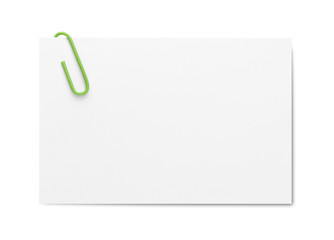 Businesscard with paper clip