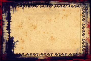 Grunge frame on vintage paper background