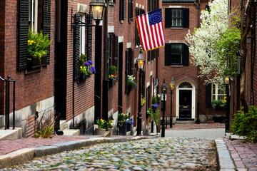Acorn Street in Boston, Massachusetts