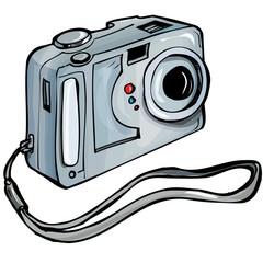 Illustration of a instant camera