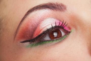 Very beautiful, fantastic make up girl eye.