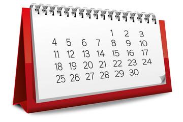 Kalender rot Monat zahlen Ziffern