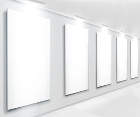 Display in gallery. Vector illustraction.