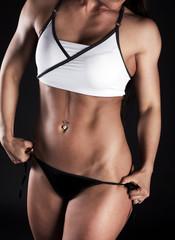 Sexy torso of woman