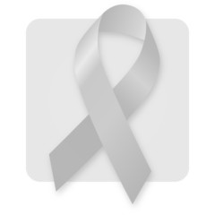 Awareness Ribbon - Grey Silver