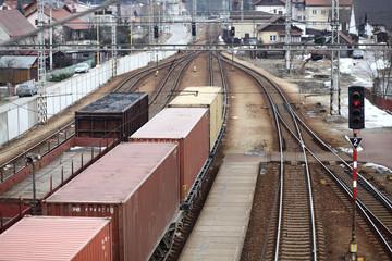 Train, trains at the depot
