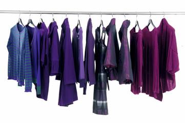 Line of fashion autumn/winter clothes rack