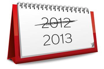 Kalender rot 1 Januar 2012 2013