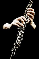 Papiers peints Musique Oboe musical instrument of symphony orchestra.