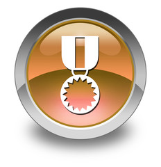 "Orange Glossy Pictogram ""Award Medal"""
