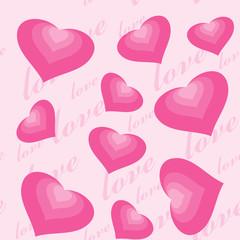 Seamless texture valentine