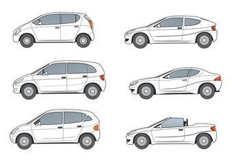 Weiße Kompaktvans, Coupe, Cabrio,Sportcoupe