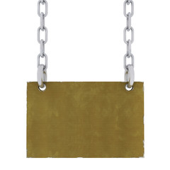 Metal Sign With Chains