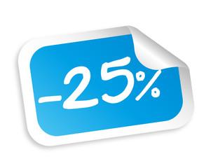 25 Prozent Aufkleber