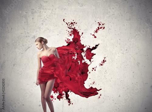 графика девушка краски бесплатно