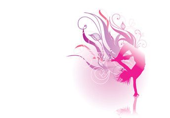pink silhouette dancer