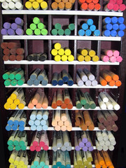 Art Studio Pastel Crayon Display Shelf