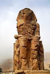 the Colossus of Memnon near Luxor in Egypt