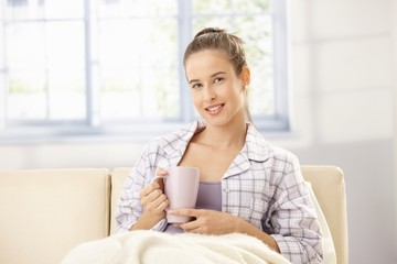 Attractive woman in morning