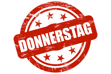 Sternen Stempel rot DONNERSTAG
