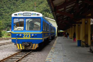 PeruRail at Aguas Calientes Station (Machu Picchu, Peru)