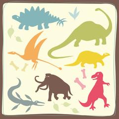 Dinosaurs' Coloured Set
