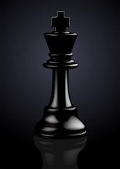 Chess Black King - Vector Illustration