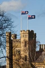Government House and Vice Regal flag, Hobart, Tasmania