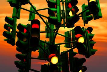 Last traffic light in Eilat (Israel)