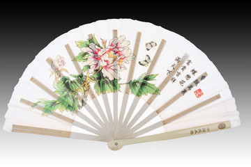 Oriental white chinese fan