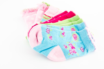 set of baby colorful socks