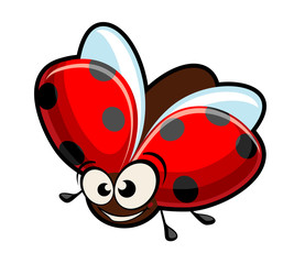 Funny cartoon ladybug