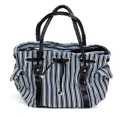 striped female bag