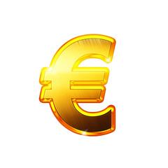 Euro - Alphabet en lettres dorées