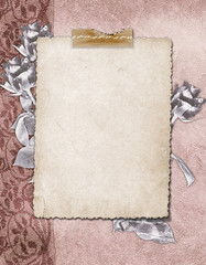 Vintage background with frames for photo.