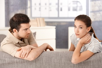 Young couple having relationship in crisis