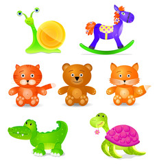 toyes icon set  isolated on white background.