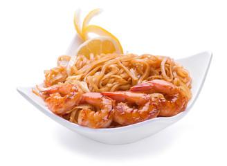 Tiger shrimp with noodles