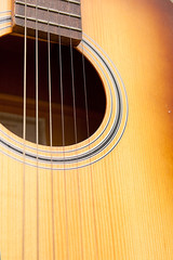 musical background image of concert guitar