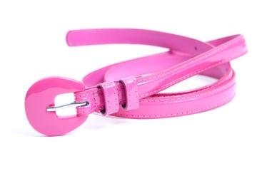 thin female pink belt