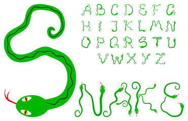 Snake alphabet