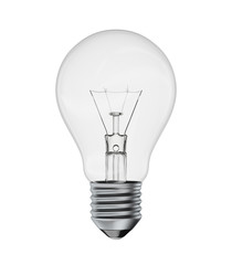 Perfect light bulb isolated on a white background