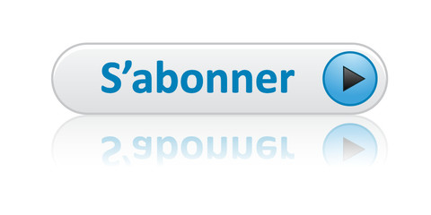 "Bouton Web ""S'ABONNER"" (abonnement inscription je m'abonne bleu)"
