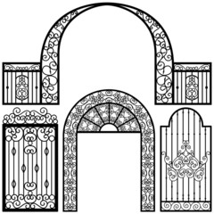 Entrance Gate Door Fence Vintage Retro Ancient Garden